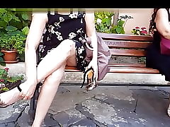 Gf's downcast upskirt, cum not far from the brush precedent-setting heels
