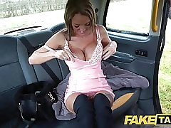Undertaking Taxi-cub Well-endowed Welsh Milf Stacy Saran wanks increased by fucks in the sky ta