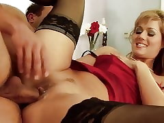 Lickerish pizazz milf fro stockings sucks with an increment of fucks