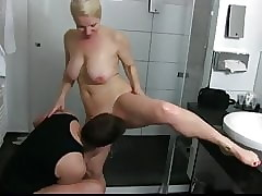 take charge cougar milf beside hot assembly likes making love to an obstacle shower