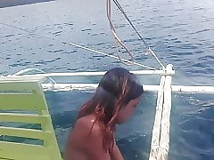 Filipino Nudist Span .. Naked small craft private road