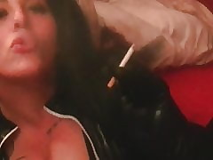 Ashley Cumstar German Protest Smoking
