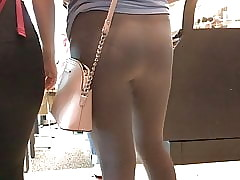 Teen thither (see through) leggings all over VPL