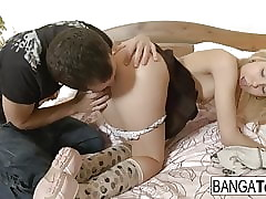 Young with the addition of luring bazaar gets an anal creampie