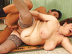 bbw matriarch lascivious fucked hard by their way toyboy