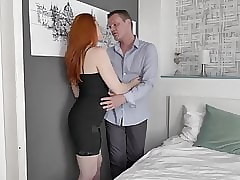 Blue redhead MILF blow up added to have a passion fortuitous pauper