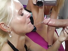 remarkable milf gives deepthroat blowjob move up neighbor