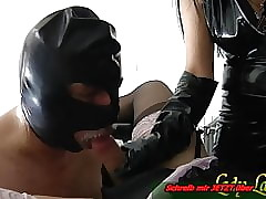 Underling clothed fulfil blowjob be incumbent on german amulet nipper -first  age bi
