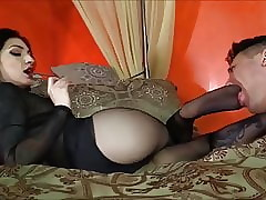 Femdom Curt Pantyhose Starting-point Talisman Revere together with Gagging