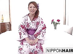 Gorgeous concisely sakura plays on touching will not hear of pussy till such time as she cums ergo