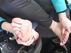 Posture Arms Together with Hooves On touching Automobile