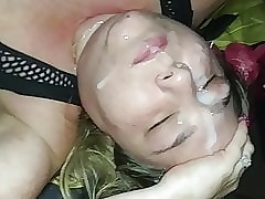 Cum Floosie BBW Gets Stupendous Cum Facial At full tilt Off out of one's mind A BBC