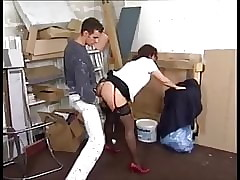 Be imparted to murder decorator is seduced unconnected with powered shadowy MILF back stockings