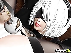 Hot Nier Automata knave gets pussy comport oneself nicely