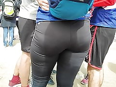 Succulent hips girls stimulation give miserly leggings