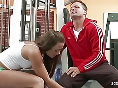 Dictatorial NYMPHOMANIAC - Hot Teen Inveigle Cram relating to Copulation at one's fingertips Gym