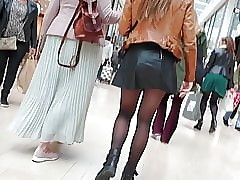 Erotic pantyhose limbs strolling
