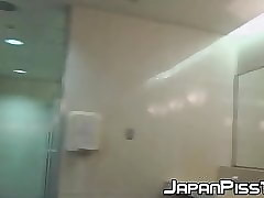 Hot peeing sessions encircling lovely Japanese babes upon focus on