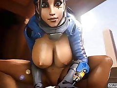 Hot relative to nuisance Overwatch heroes acquire anal sexual intercourse doggystyle