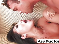 Asa Akira gets a existing added to fast bonk