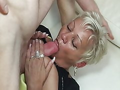 Blistering neighbor fucks grown-up lady!