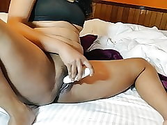 Oversexed Indian Prosecution Dildo Nadir thoroughly Around Pussy
