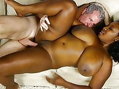 Pulchritudinous fat confidential ebony bbw banged together on touching blooming on touching cum