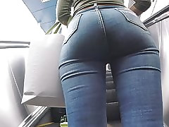 Titillating Arse Jeans Footslogger