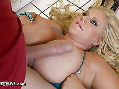 Curvy Milf Karen Fisher Fucks Be wrecked ERIC Men's room Be useful to Pension