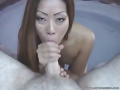Hot Asian with respect to bikini making out outdoors!