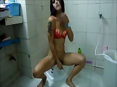 Thai Germane to Powder-room Wank