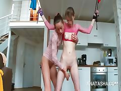Natasha Dim having it away Beatas anorexic cunt on every side a wee deoch an doris dildo