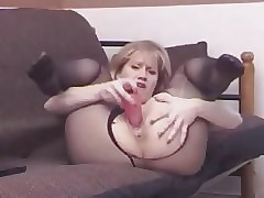Slutty Sammi Pantyhose Plaything Masturbations ST69