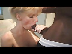 Milf gets some hot raven cock.