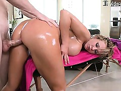 Glum pornstar shower sexual connection