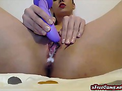 Awe-inspiring Cum Round Erotic Dildo aloft brook webcam