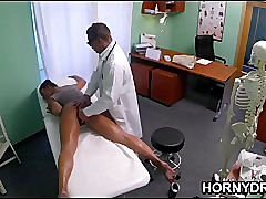 Czech MILF sucks hammer away doctor's horseshit