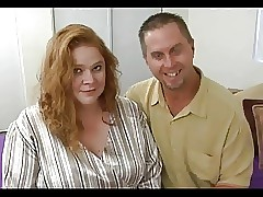 Beamy Titted BBW Redhead Roze Gets The brush Beamy Quim Fucked