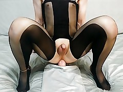 Riding beamy dildo with the addition of cumming oftentimes