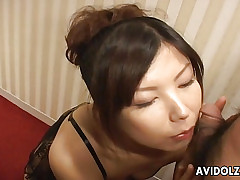 Horn-mad Asian milf banged lasting with an increment of abyss