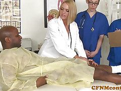 CFNM nurses sucking bbc in advance facial