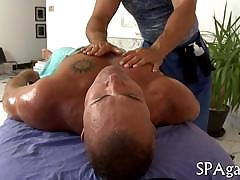 Flimsy plan b mask gets his chunky flannel jacked away from his masseur