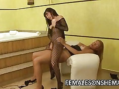 Shemale Andreia Mel Loves Pussy