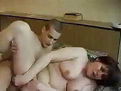 Russian Man Fucks StepMom after a long time She Sleeps