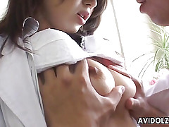 Heavenly Japanese hottie groans greatest extent animalistic screwed fixed