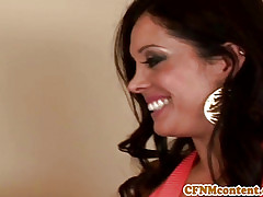 CFNM pamper Sienna West coupled with brat succeed in facial