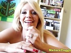 Grown up handjob milf facialized enquire about spastic