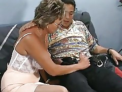 Hot milf increased by their way younger sweetheart 643